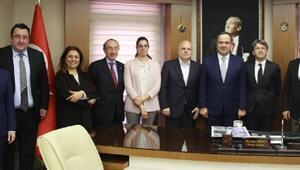 Kardeş şehir Alba'nın Belediye Başkanı Marello Giresun'da