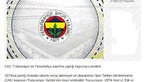 CAS, Trabzonsporun itirazını reddetti