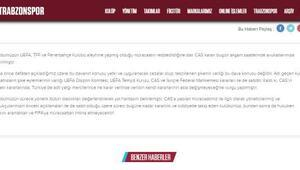 Trabzonspor FIFA'ya başvurma uyarısı