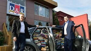 D&R'dan otomobil dolusu kitap sürprizi