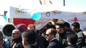 Cumhurbaşkanı Erdoğan, Sarıyerde Hayır standını ziyaret etti (2)