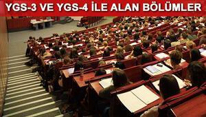YGS 3 ve YGS 4 ile alan bölümler nelerdir YGS 3 ve YGS 4 ile alan 2 yıllık bölümler