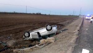 Takla atan otomobilin Makedon sürücüsü yaralandı