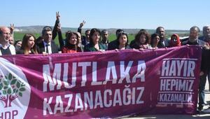 HDP, Trakyada hayır kampanyasını cezaevi önünde başlattı