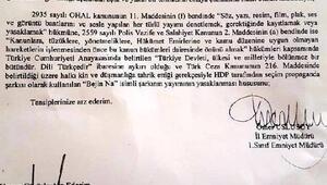 Şırnakta HDPnin referandum şarkısı Bejin Nayı yasakladı