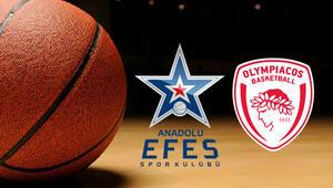 Anadolu Efes Olympiakos basketbol maçı ne zaman saat kaçta hangi kanalda