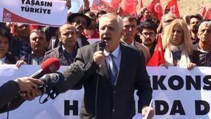 ABD Başkonsolosluğu önünde Adil Öksüz protestosu