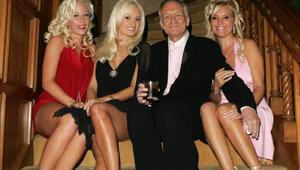 Playboy milyoneri Hugh Hefner 91'nci doğum gününü böyle kutladı!