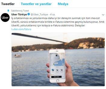 Uber Türkiye'den çok önemli 'Fatura' açıklaması
