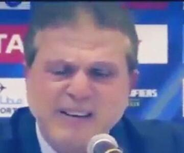 Suriye teknik direktörü hıçkıra hıçkıra ağladı