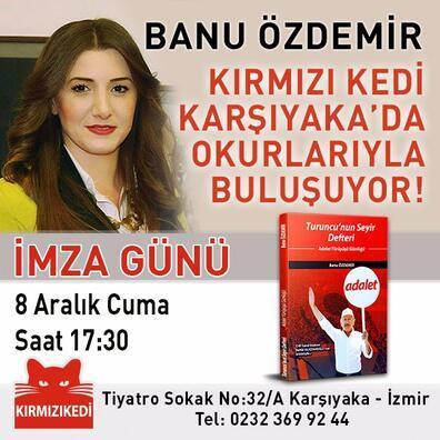 Özdemirin İzmirde ilk imza günü Karşıyakada