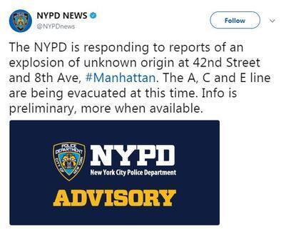 Son dakika... New Yorkta patlama
