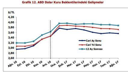Merkez Bankası beklenti anketine göre dolar yıl sonunda 3.7199 TL olacak