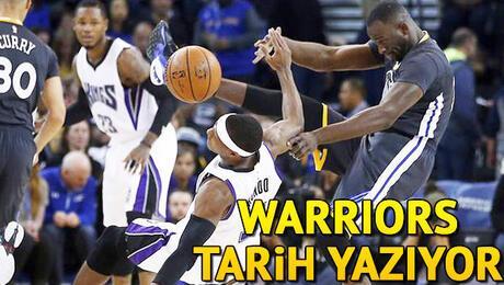 Warriors tarih yazıyor!
