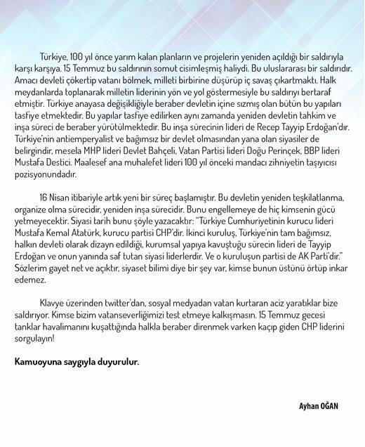 Türkiyenin konuştuğu sözler için açıklama
