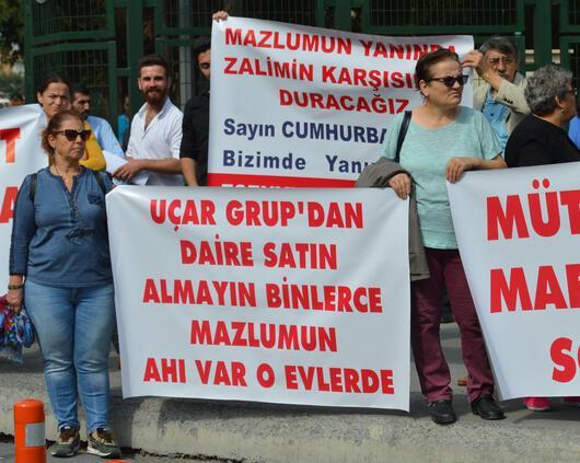 Emlak mağdurlarının isyanı Binlerce aile adliye önünde toplandı...
