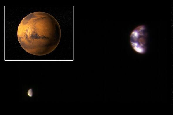 Dünya Marstan işte böyle görünüyor