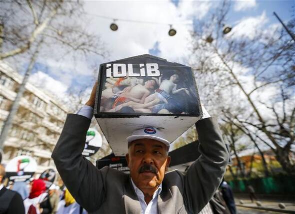 Ankarada İdlip protestosu
