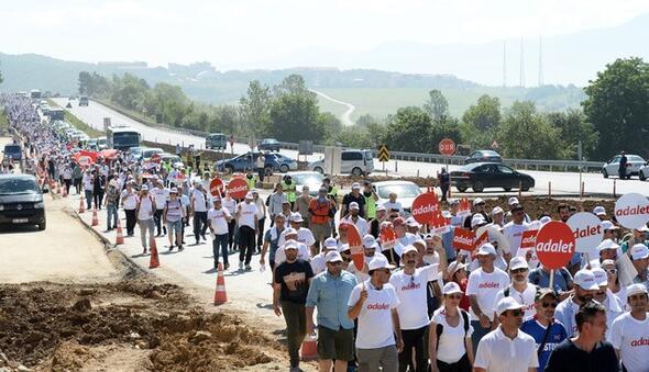 Kılıçdaroğlu Adalet Yürüyüşünün 12. gününde... İşte yürüyüşten fotoğraflar