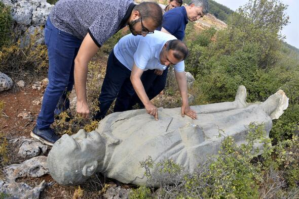 Atatürk heykelinin ormana atıldığı iddiası