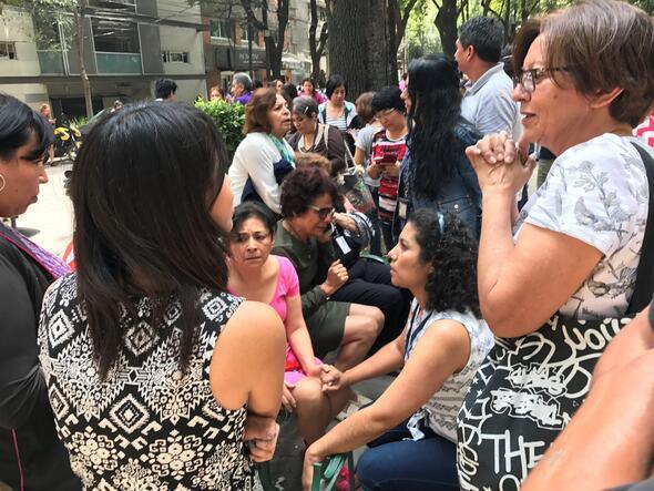 Meksikadaki depremden ilk kareler