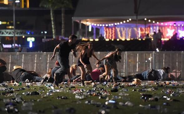 Las Vegasta konserde saldırı dehşeti İlk fotoğraflar...