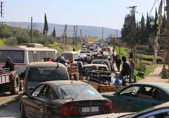 Afrin'den siviller böyle ayrılıyor...