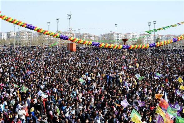 Diyarbakırda nevruz kutlamaları...