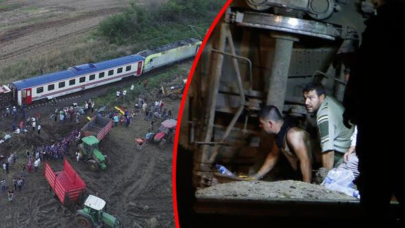 çorluda Tren Kazası Tren Kazasından Yürek Yakan Görüntüler
