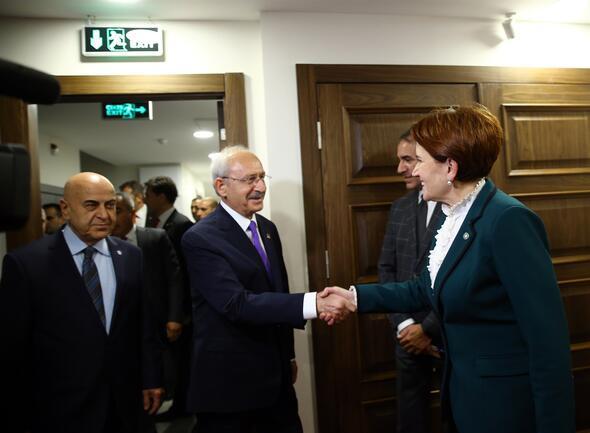 Kılıçdaroğlu ile Akşenerin görüşmesi başladı
