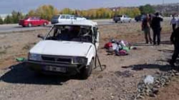 Elmadağ'da feci kaza