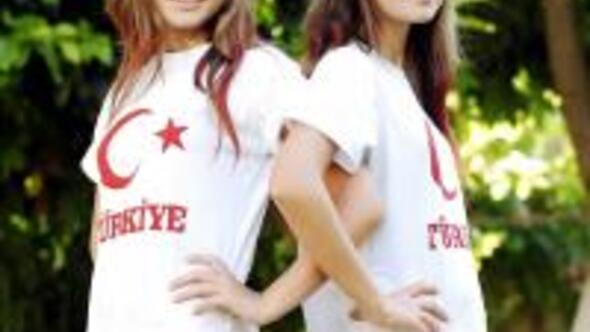 Güzellik yarışmasında 14lük Türk ikizler