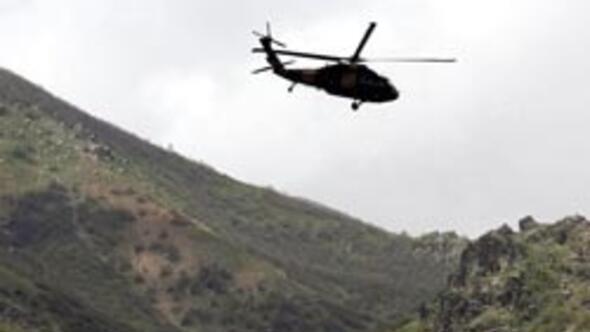 Dağlıcada askeri helikopter kazası