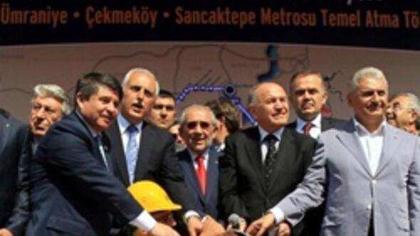 Üsküdar-Ümraniye-Çekmeköy-Sancaktepe metrosunun temeli atıldı