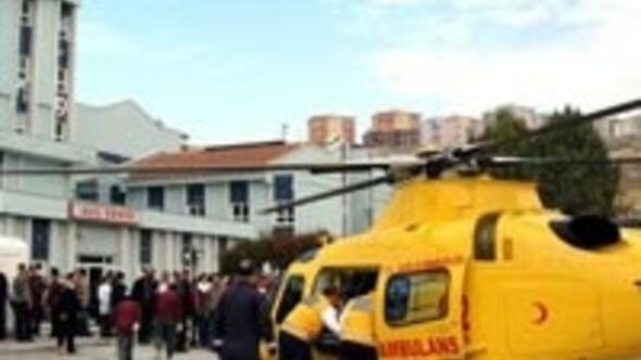 2 hasta için 2 ambulans halikopter