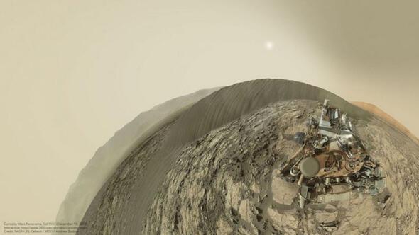 Curiosity Marstan selfie gönderdi