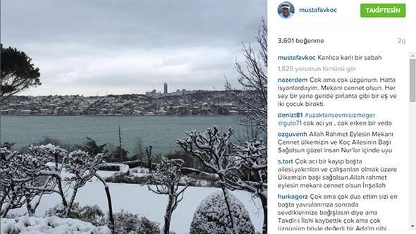 Mustafa Koçun son Instagram paylaşımı