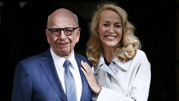 Rupert Murdoch ve Jerry Hall evlendi