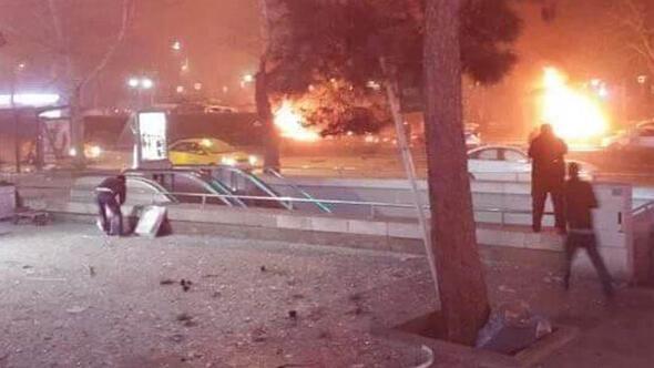 ABD Ankara'daki patlama için uyarmıştı, bombalı araç şüphesi var