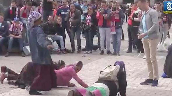A.Madrid-PSV maçı öncesi insanlık ayıbı