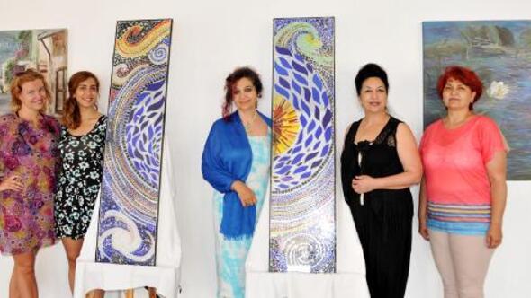 Kaşta Kalamar Uluslararası Sanat Çalıştayı sergisi açıldı