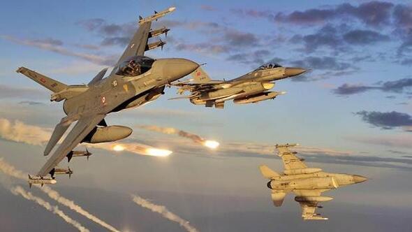 TSKdan terör örgütü PKK hedeflerine hava harekatı