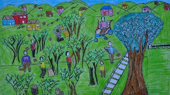 """""""Çocuk Gözüyle Giresun ve Fındık"""" konulu resim yarışması sonuçlandı"""