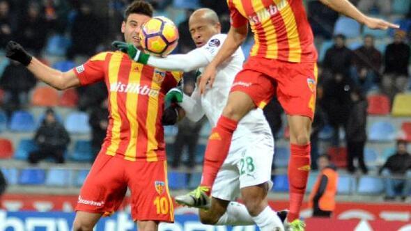 Kayserispor-Bursaspor maçı fotoğrafları