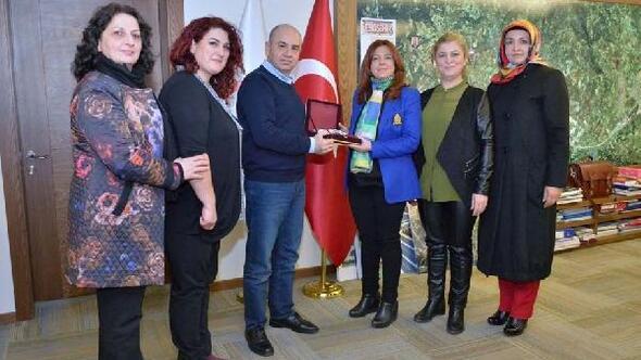 Kadınlardan Başkan Saraoğluna ziyaret