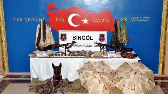 Bingölde PKK cephaneliği bulundu