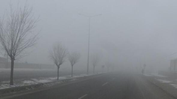 Iğdırda sis hayatı etkiliyor