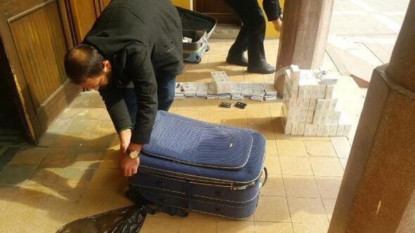 Malatya Garında 2 bin 400 paket kaçak sigara ele geçirildi