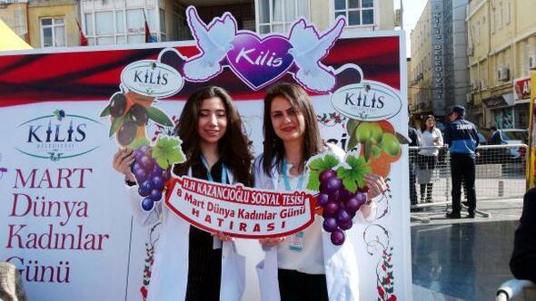 Kiliste, Türk ve Suriyeli kadınlardan 8 Mart kutlaması