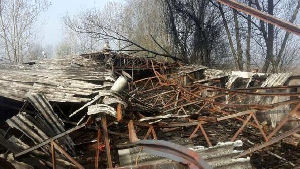 Tavuk çiftliği yandı